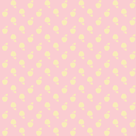 Polka_Apples_pink fabric by natasha_k_ on Spoonflower - custom fabric