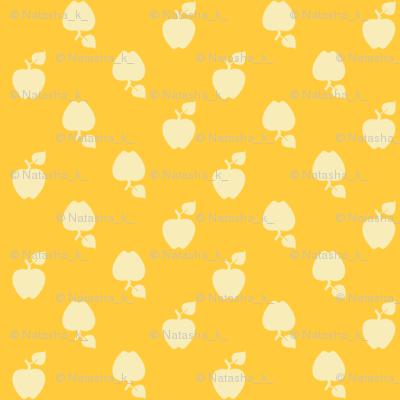 Polka_Apples_yellow