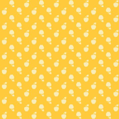 Polka_Apples_yellow fabric by natasha_k_ on Spoonflower - custom fabric