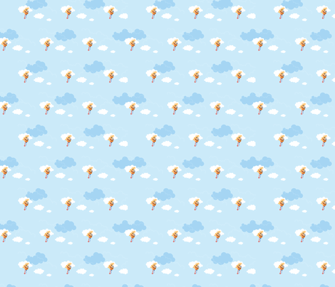 pirate monsters clouds fabric by cyntia_abrigo on Spoonflower - custom fabric