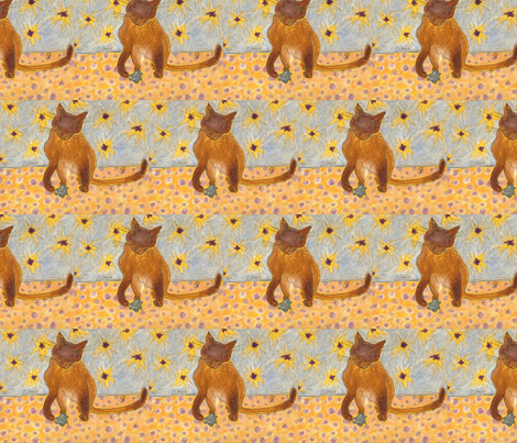 siamese kitty with toy fabric by juliannjones on Spoonflower - custom fabric