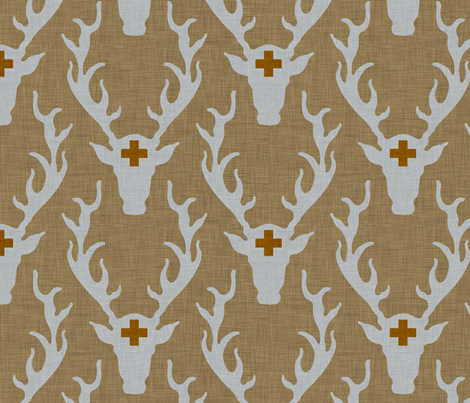deer_head_rustic fabric by holli_zollinger on Spoonflower - custom fabric