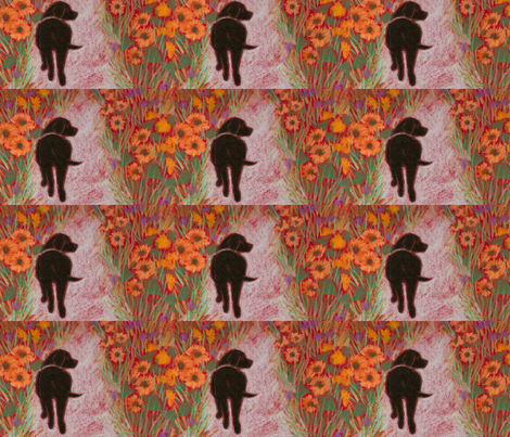 black lab and sunflowers fabric by juliannjones on Spoonflower - custom fabric