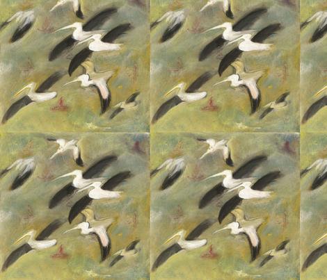 pelicans fabric by juliannjones on Spoonflower - custom fabric