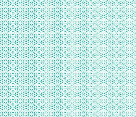 Tiny Turquoise Flowers'n Buds on Aqua fabric by wellrock_designs on Spoonflower - custom fabric