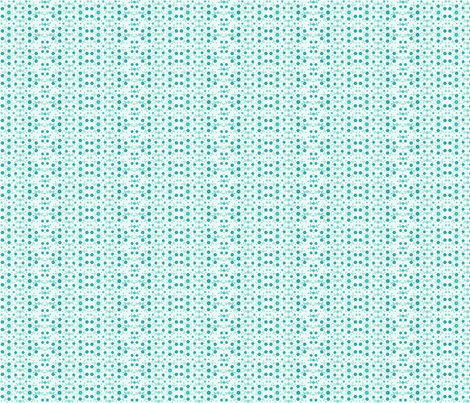 Tiny Turquoise Flowers'n Buds on Aqua fabric by wellrockdesigns on Spoonflower - custom fabric