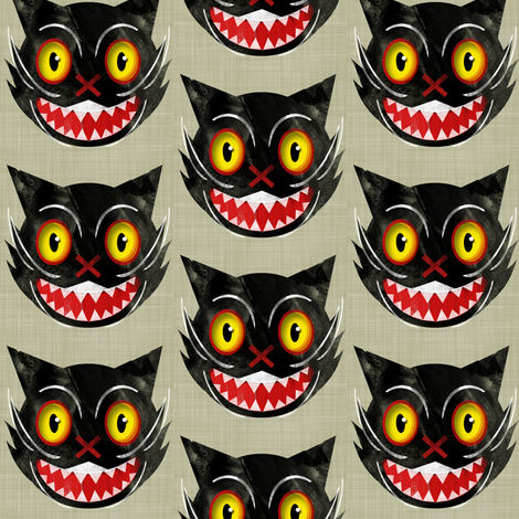 'Kit'-Or-Treat fabric by jessamarie on Spoonflower - custom fabric