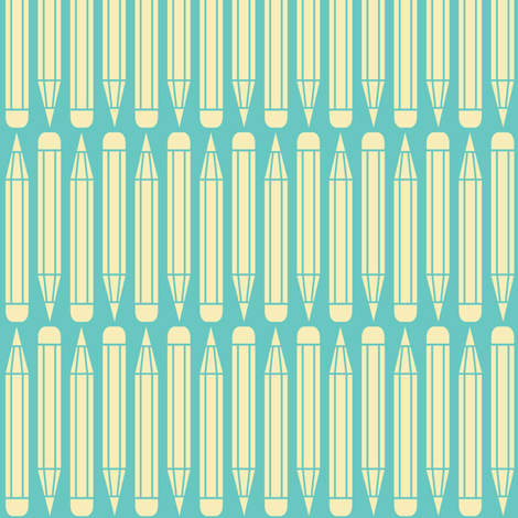 just_pencils_blue fabric by natasha_k_ on Spoonflower - custom fabric