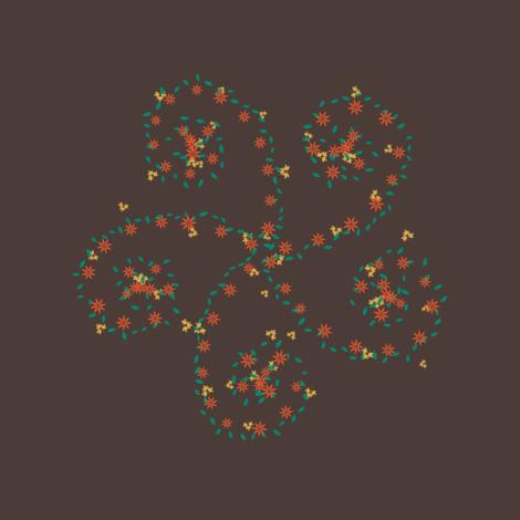 Flower Spiral fabric by fatcat_designs on Spoonflower - custom fabric