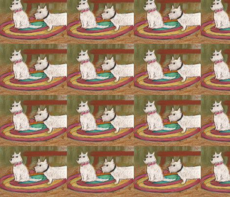 two westies fabric by juliannjones on Spoonflower - custom fabric