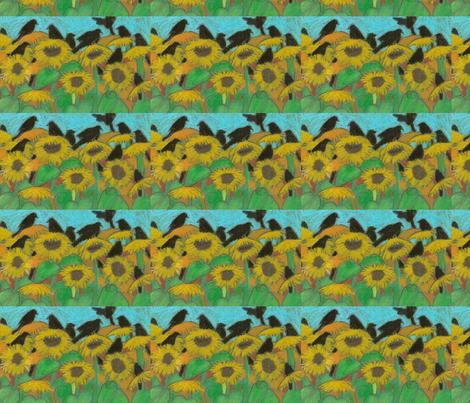 crows fabric by juliannjones on Spoonflower - custom fabric