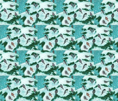 snowy birds fabric by juliannjones on Spoonflower - custom fabric