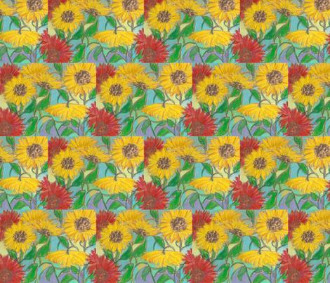 sunflowers fabric by juliannjones on Spoonflower - custom fabric