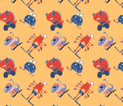 Pirate monsters 1 fabric by cyntia_abrigo on Spoonflower - custom fabric