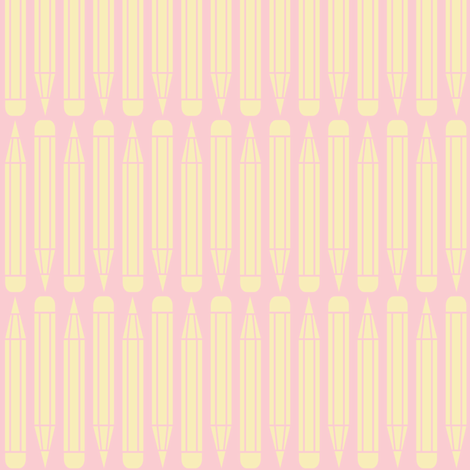 just_pencils_pink fabric by natasha_k_ on Spoonflower - custom fabric