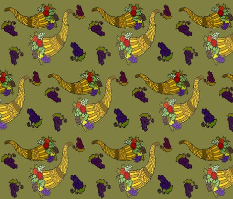 HORNS OF PLENTY fabric by bluevelvet on Spoonflower - custom fabric