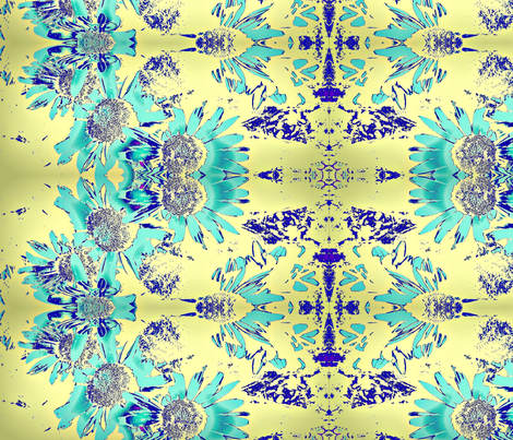 yellow_flower fabric by dk_designs on Spoonflower - custom fabric