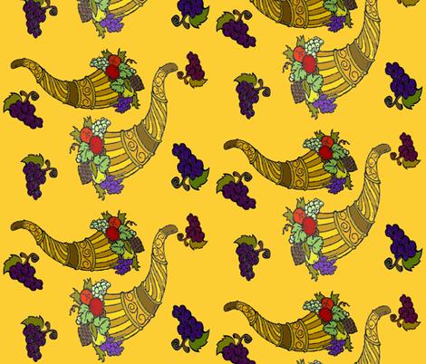 GOLDEN HORNS OF PLENTY fabric by bluevelvet on Spoonflower - custom fabric