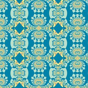 Graceful Fractals in Blue, Green, and Orange