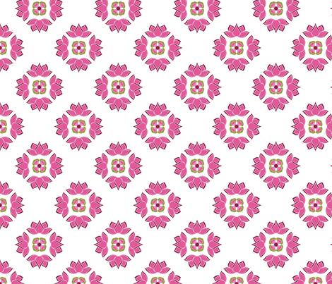 lotusGeom fabric by thelazygiraffe on Spoonflower - custom fabric