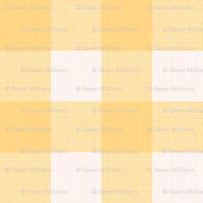 yellow blush gingham