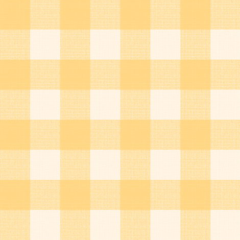 yellow gingham fabric by mojiarts on Spoonflower - custom fabric