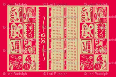 Retro Kitchen (Advertising) ~ 2013 Calendar/Tea Towel **FOR LINEN**