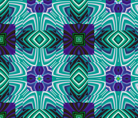 Flowery Incan Tiles 16 fabric by animotaxis on Spoonflower - custom fabric