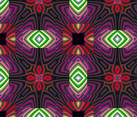 Flowery Incan Tiles 17 fabric by animotaxis on Spoonflower - custom fabric