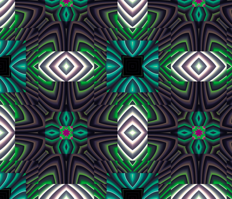 Flowery Incan Tiles 18 fabric by animotaxis on Spoonflower - custom fabric