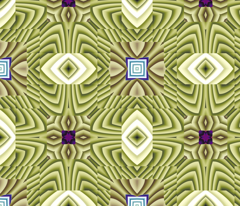 Flowery Incan Tiles 19 fabric by animotaxis on Spoonflower - custom fabric