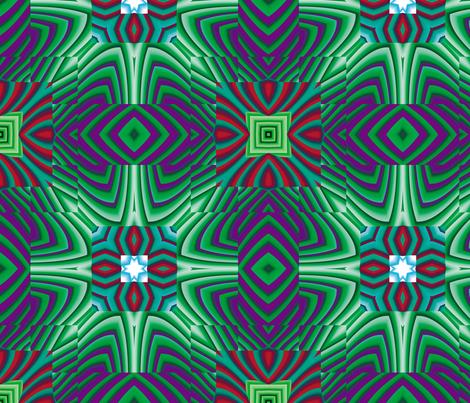 Flowery Incan Tiles 20 fabric by animotaxis on Spoonflower - custom fabric