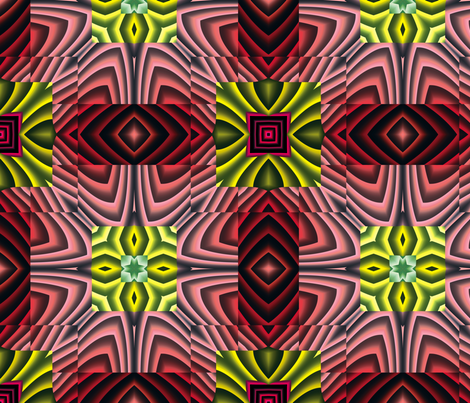 Flowery Incan Tiles 21 fabric by animotaxis on Spoonflower - custom fabric