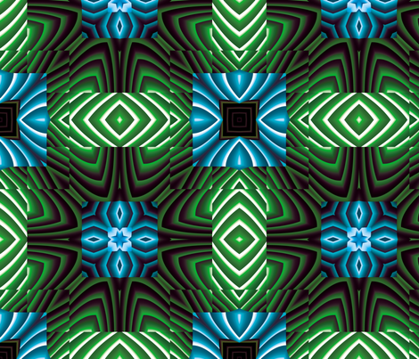 Flowery Incan Tiles 23 fabric by animotaxis on Spoonflower - custom fabric