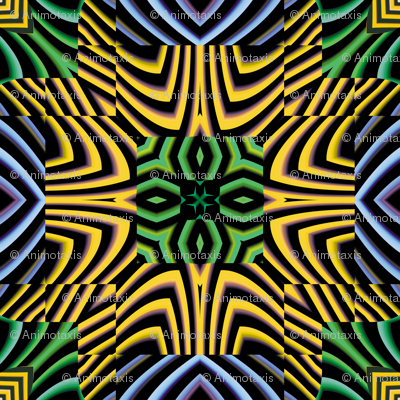 Flowery Incan Tiles 25