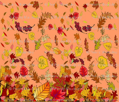 AUTUMN LEAVES CHEATER QUILT