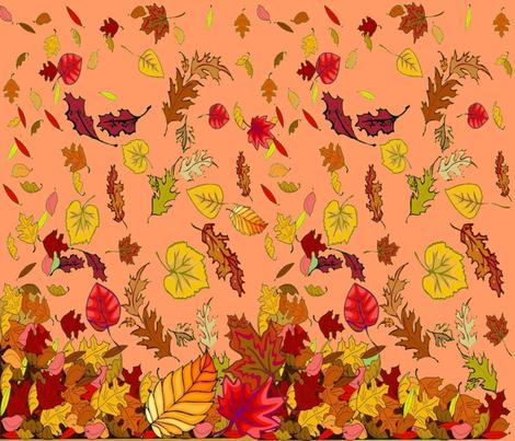 AUTUMN LEAVES CHEATER QUILT fabric by bluevelvet on Spoonflower - custom fabric