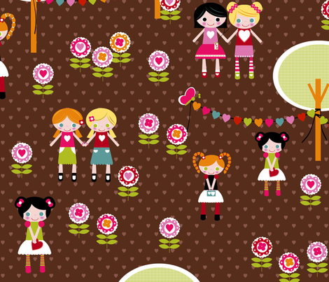 Best Friends Forever fabric by natitys on Spoonflower - custom fabric