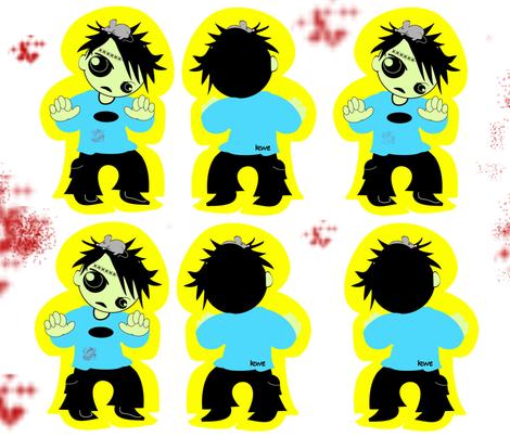 Zombie Doll Pattern fabric by kiwicuties on Spoonflower - custom fabric