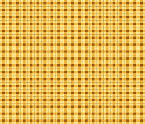 pumpkin rough plaid fabric by mojiarts on Spoonflower - custom fabric