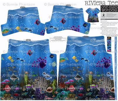 One yard Riviera Tee: Underwater Love