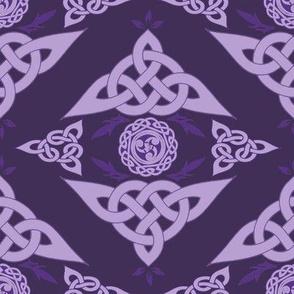 Celtic Triquetra Damask Violet