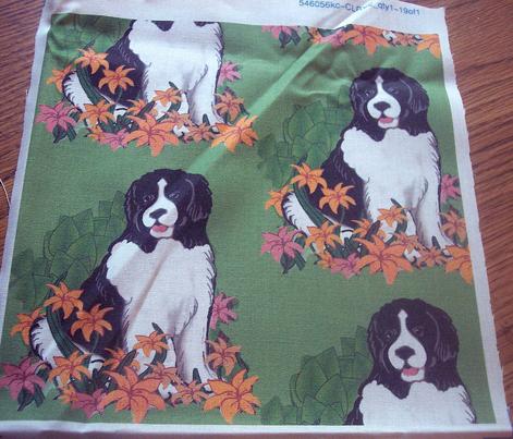 Newfy In The Garden fabric