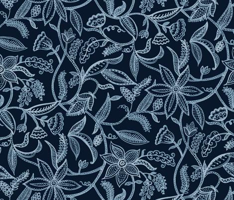 Climbing plants  fabric by chulabird on Spoonflower - custom fabric