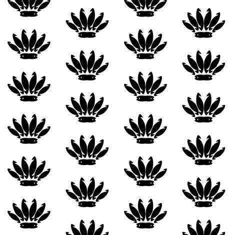 reed_hook_flower_crown_spaced_repeatmotif fabric by allanamay on Spoonflower - custom fabric