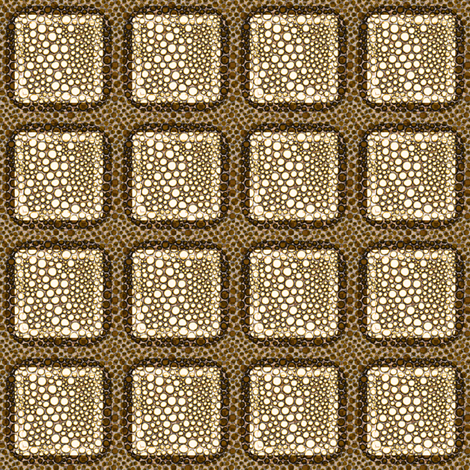 DotCrowd: Boxed Brown fabric by tallulahdahling on Spoonflower - custom fabric