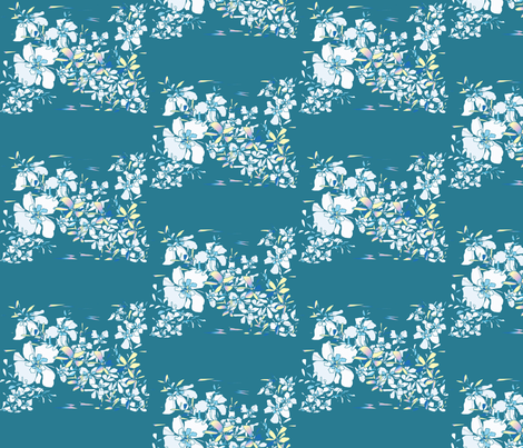 flowing_ designer lydia falletti  fabric by artsylady on Spoonflower - custom fabric