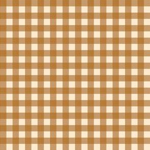 brown gingham