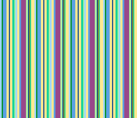 multicolor blue stripes fabric by mojiarts on Spoonflower - custom fabric