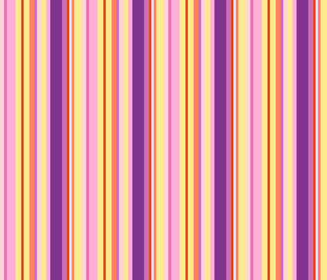 multicolor pink stripes fabric by mojiarts on Spoonflower - custom fabric